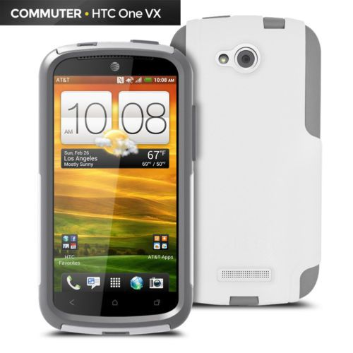 HTC-Phone-Case-for-HTC-One-VX-phone-cover-hard-case-w-screen-protector-white