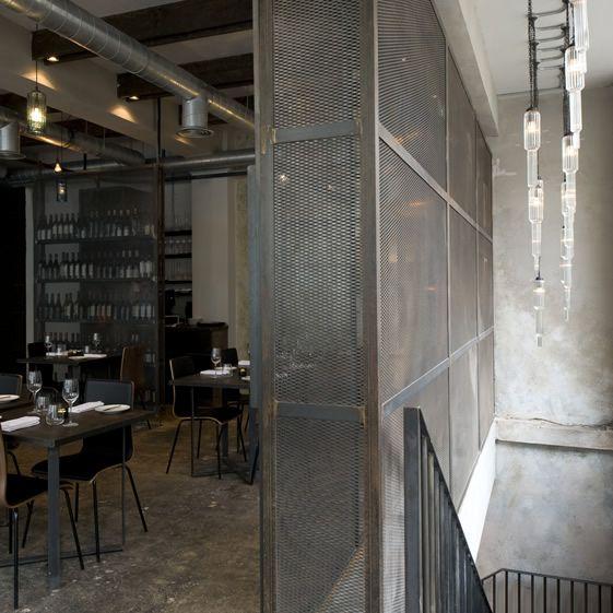 Dabbous, LondonHouse Design, Dabbous, Architecture Interiors, Design Interiors, Interiors Design, Modern Industrial, Industrial Design, Restaurants, Room Dividers