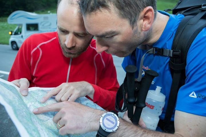 Briton's Jon Chambers does some navigation with the help of his Ambit2.