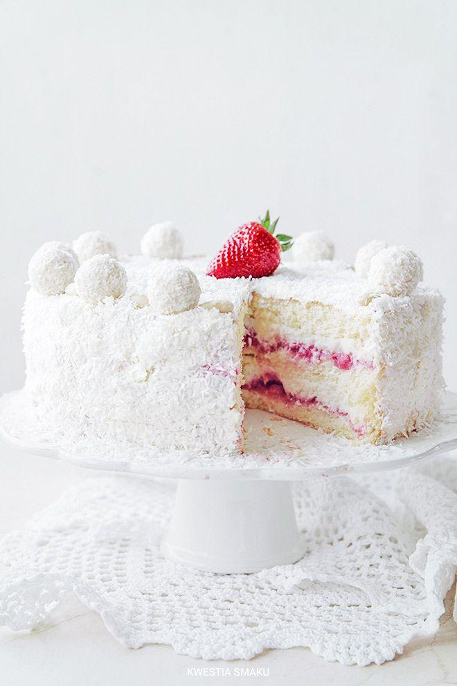 Raffaello & Strawberry Cake Recipe