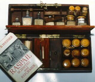 Pictured is a book about Dr. Raspail by Dora B. Weiner.: Drugs Kits, Suger Helpful, Spoons Full, Apothecaries Cabinets, Medical Antiques, Antiques Apothecaries