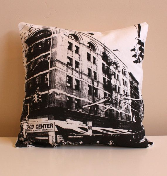 New York City Pillow  Urban Throw Style no6  16 x 16 by NestaHome, $30.00