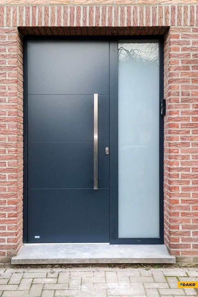 Zewnętrzne drzwi aluminiowe (nakładkowe) - model NOEL