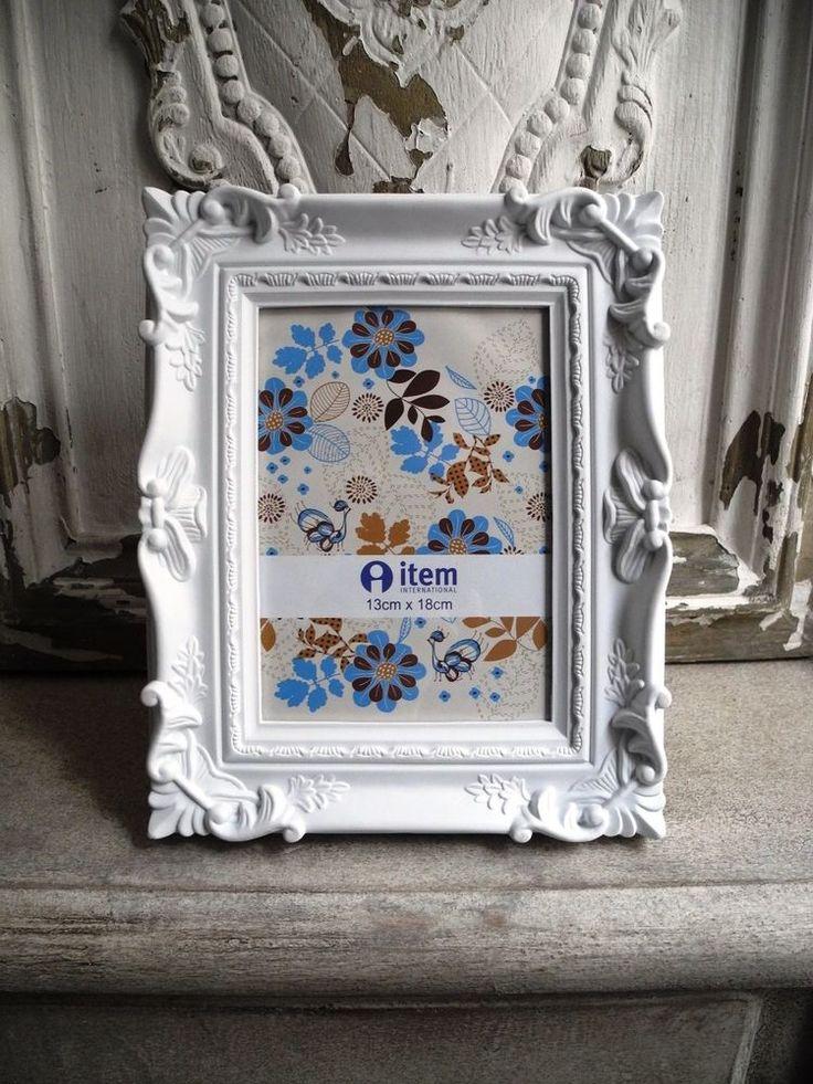 13x18 Bilderrahmen Barock weiß Fotorahmen Foto Vintage French shabby chic 486 in Möbel & Wohnen, Dekoration, Bilderrahmen | eBay!