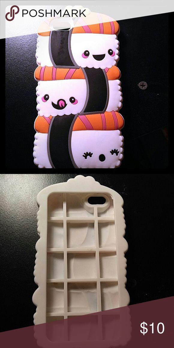 IPhone 6 sushi case Excellent condition IPhone 6 case. Super cute. Accessories Phone Cases