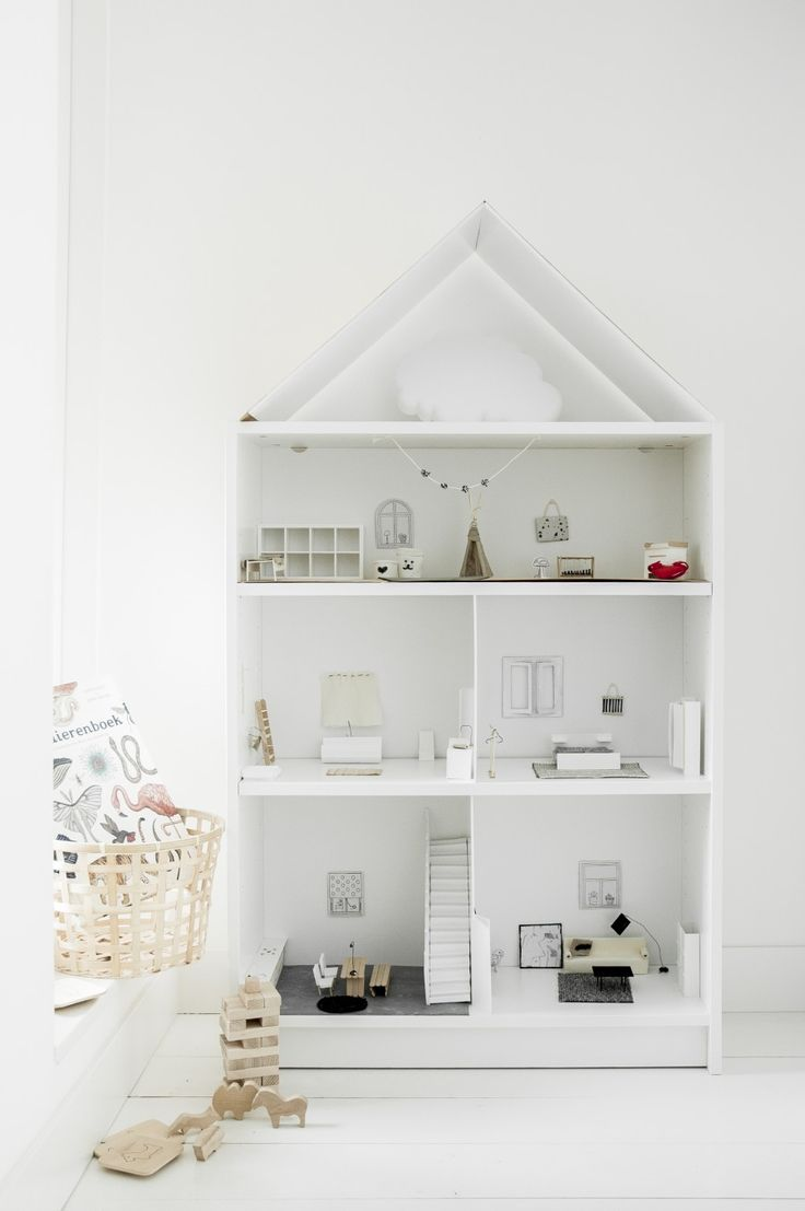 Create Your Own and Unique Doll House From Ikea's Furniture http://petitandsmall.com/create-unique-doll-house-ikea-hack/