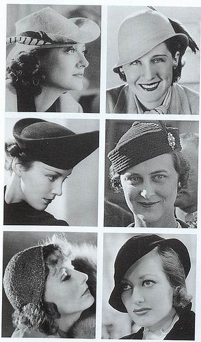 """Hats, 1930s   """"Greta Garbo was the Hollywood star who h…   Flickr – Photo…"""