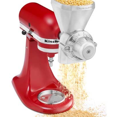 KitchenAid Stand Mixer Attachments Your Kitchen Needs | Grain Mill Attachment