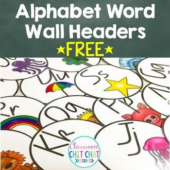 Are you looking for an easy and simple way to display your word wall? Use these simple alphabet headers as a display in our classroom. Includes: 26 x circular alphabet headers Visit my blog Classroom Chit Chat