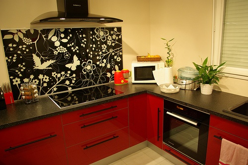 10 best kitchens red accents images on pinterest kitchen ideas kitchen d - Plaque fonte leroy merlin ...