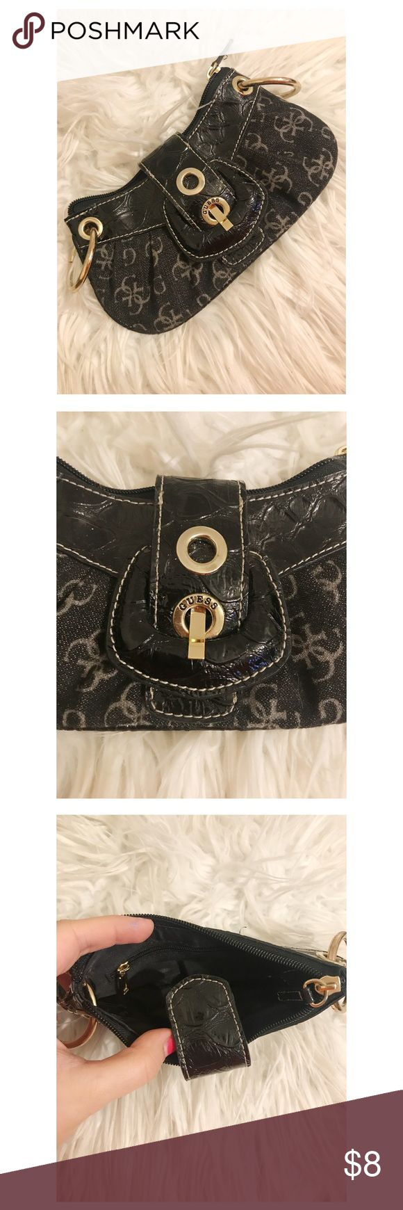 Small Black Guess Clutch Bag Small Guess clutch. Can be used alone or as a small wallet/change purse. In great condition!  *WILL OFFER AT LEAST 15% OFF OF BUNDLES* Guess Bags Clutches & Wristlets