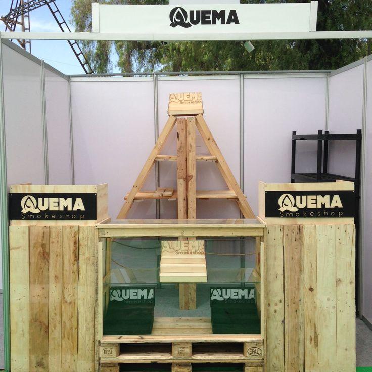 Quema Smoke Shop #Stand #ExpoweedChile #Donpallets #pallets