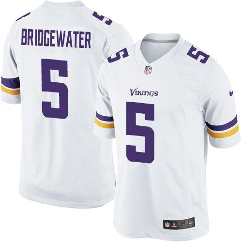 $24.99 Nike Limited Teddy Bridgewater White Men's Jersey - Minnesota Vikings #5 NFL Road