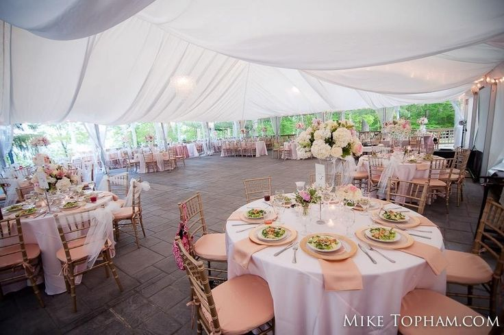 Tall table reception centerpieces