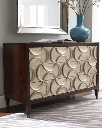 """""""Panache"""" Silver-Leaf Chest by Schnadig Corporation at Neiman Marcus."""