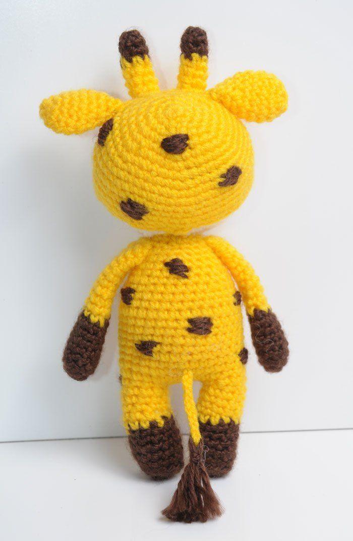 Amigurumi doll in giraffe costume - crochet pattern