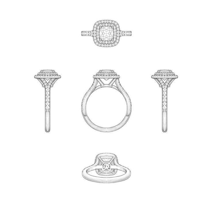 Diamond ring | jewelry sketch
