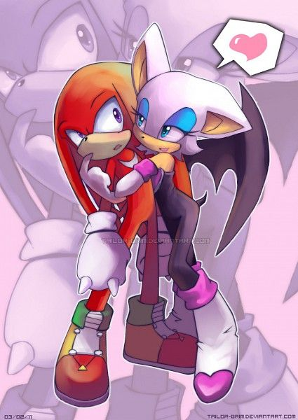Knuckles & Rouge. I ship this more than I ship Rouge and Shadow...