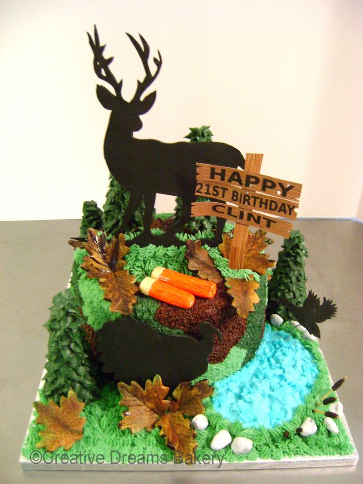 Turkey Hunting Cake Decorations : 17 Best images about Masculine Cakes on Pinterest ...