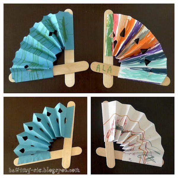 12 popsicle stick fans                                                                                                                                                     More