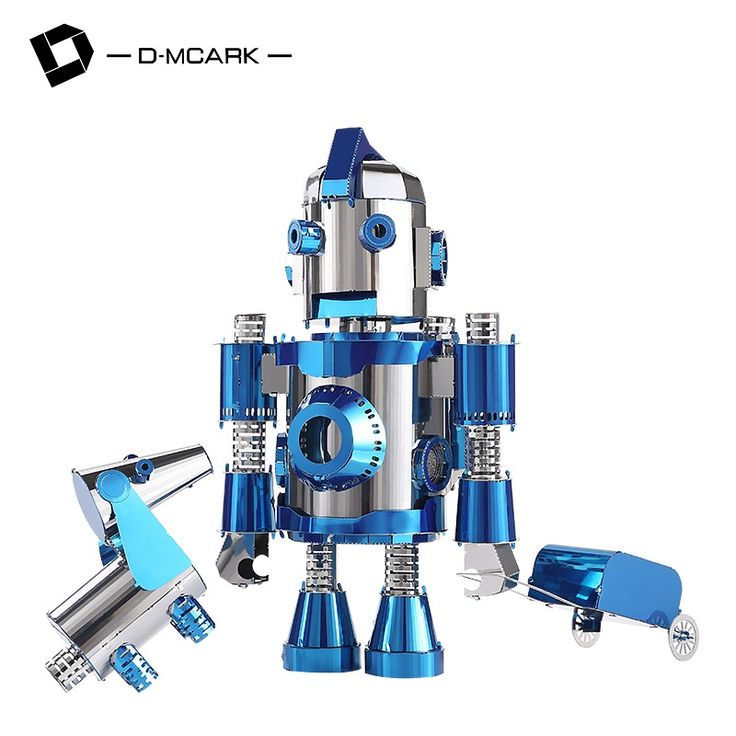 D-Mcark 2017 Best 3D Cutting Metal Puzzle Model Toys DIY Puzzles Jigsaw For Children Adult Robot Classic Funny Diy Kit Blue