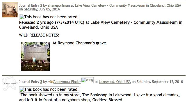 A pickup! After paying its respects to the late Raymond Chapman, a book found its way to the Bookshop in Lakewood, Ohio.