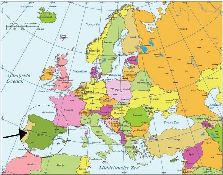 Afbeeldingsresultaat voor madrid op de kaart europa