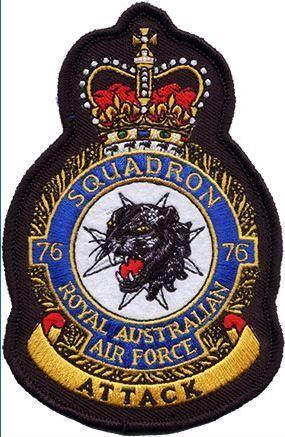 Defence Gifts - 76Sqn RAAF UNIFORM CREST  PATCH, $8.50 (http://www.defencegifts.com.au/76sqn-raaf-uniform-crest-patch/)