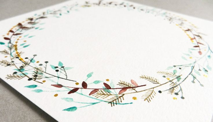 You can use Tombow Dual Brush Pens to create this Botanical Watercolor Wreath by The Postman's Knock