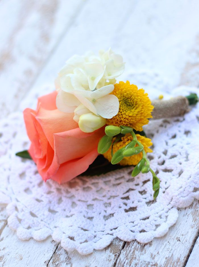 Wedding bouquets, corsages, and bouteneres made from Costco flowers