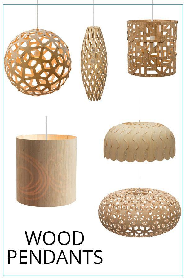 These Wood Pendant Lights Add A Modern Boho Or Coastal Vibe To Any