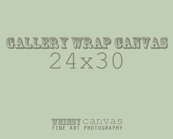 24x30 Fine Art Gallery Wrap Canvas by whimsycanvas on Etsy