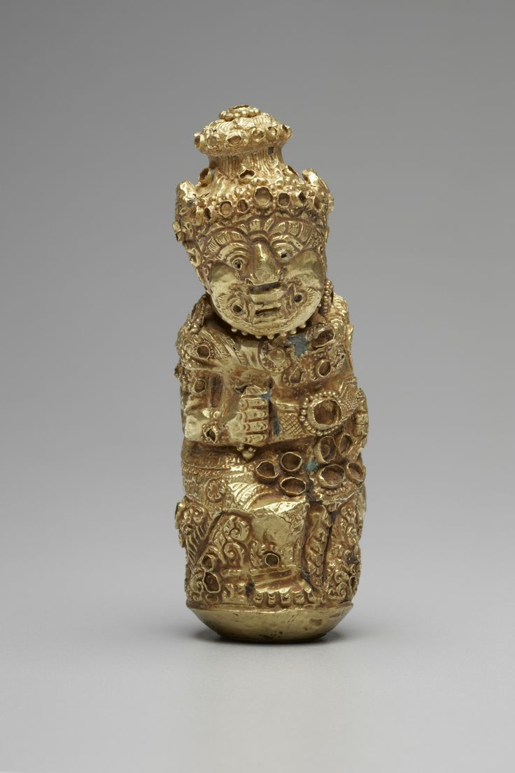 Repousse Kris Handle in the form of a Demon  11th-14th century. Gold. Java, Indonesia. | Copyright © 2015 The Yale University Art Gallery