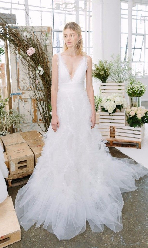 3d0be4bb9b 65 Plunging Wedding Gowns For The Daring Bride | The Dress | Wedding ...