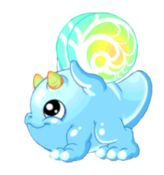 Bubble Dragon (Rare|Air/Water) [Valefolk almost equivocally agree that the bubble dragon is one of the cutest dragons ever discovered. In fact, it's so cute, grown witches and wizards will find themselves helpless to do anything more than babble in baby-talk every time they encounter one of these adorable creatures. There's even a name for the phenomenon: Bubble Babble!]