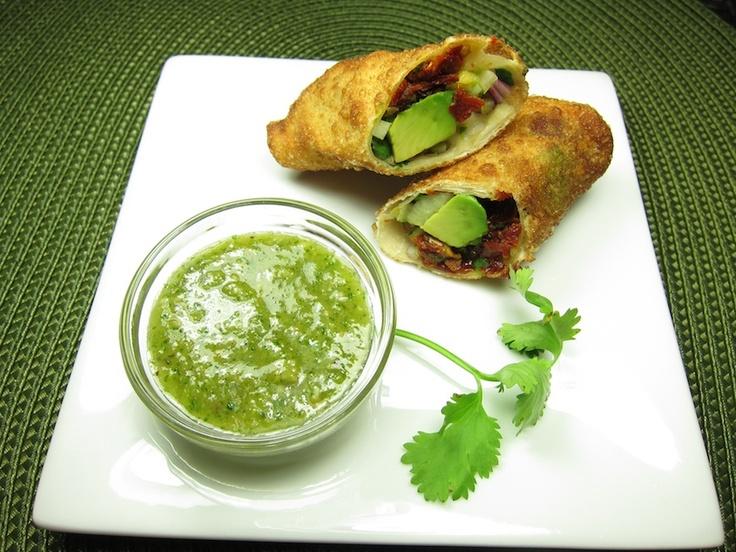 ... avocado halves avocado pita pizza with cilantro sauce pita pizza