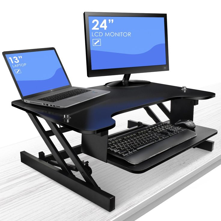 sorbus standing desk with push button height adjustable sittostand monitor desk