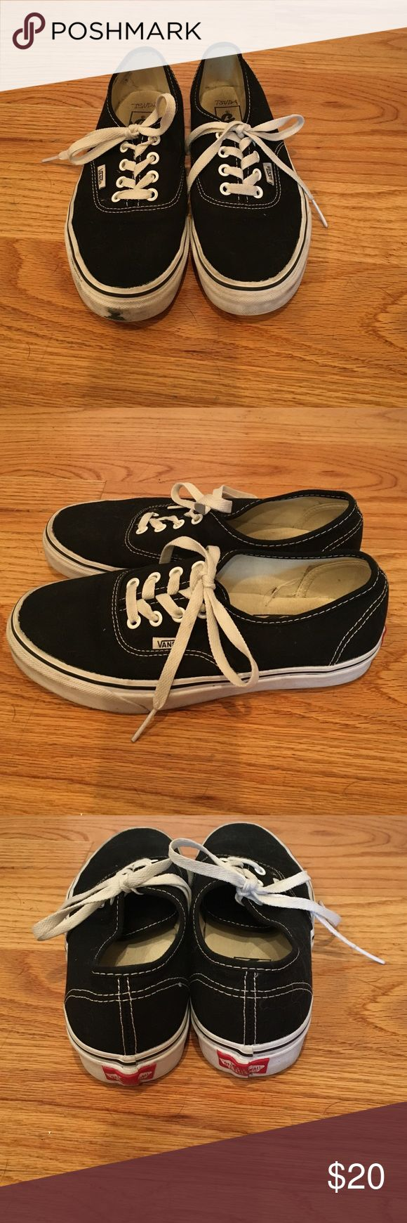 Vans Authentic Black Shoes - Women's Size 7 Good condition black vans. Small scuff on front sole. Vans Shoes Sneakers