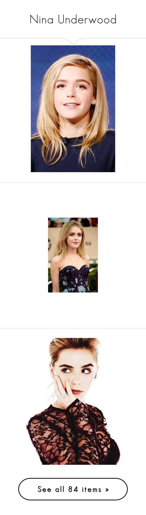 """""""Nina Underwood"""" by strangerthanfanfiction713 on Polyvore featuring kiernan shipka, letters, alphabet, words, headphones, accessories, electronics, music, items and filler"""