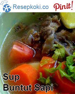 Resep Sup Buntut Sapi