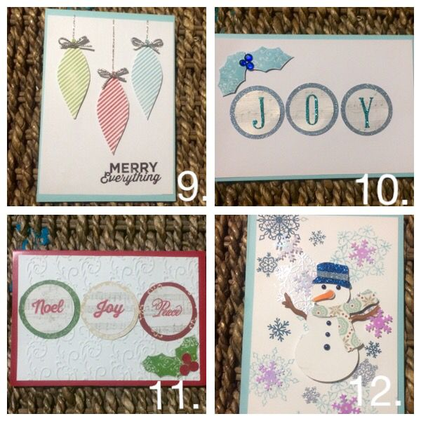 Ctmh Xmas cards using twinkle sotm and Cricut