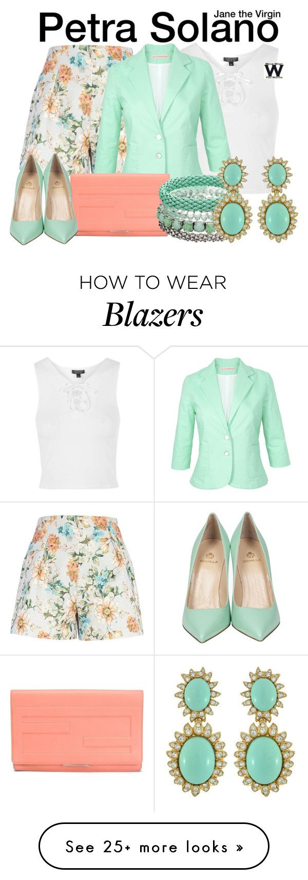 """""""Jane the Virgin"""" by wearwhatyouwatch on Polyvore featuring Topshop, River Island, Fendi, Semilla, Mudd, Ciner, television and wearwhatyouwatch"""