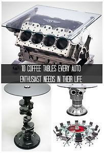 When you destroy your beloved car there is only one way to keep it in your life, an engine coffee table, of course. Come and marvel at the way these rusty old engines have been transformed into beautiful...