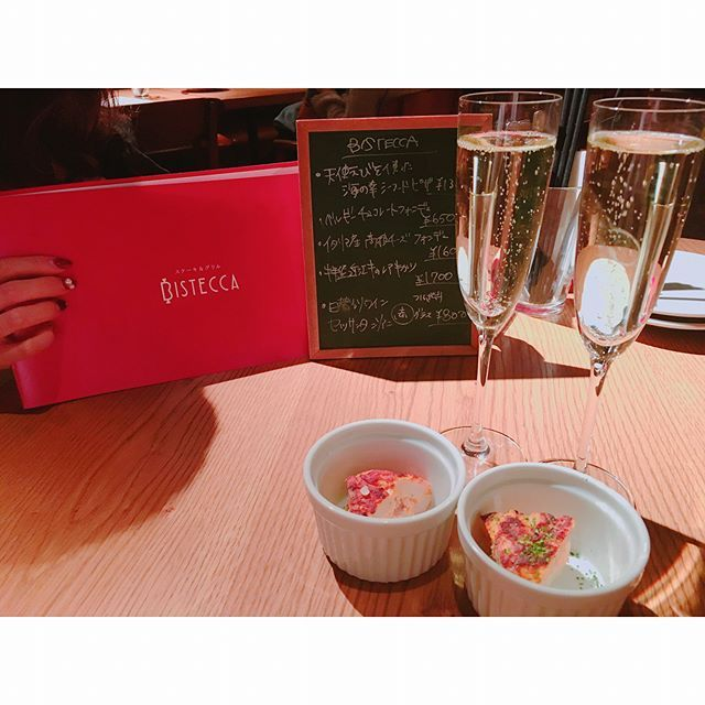 🥂💯💚美味。 #スパークリングワイン #キッシュ #肉 #牛タン #パスタ #うに #いくら #バーニャカウダ #dinner #wine  #pasta #instafood #delicious #parfect #100 #thankü