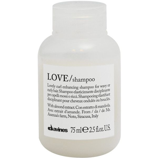 Davines Love Curl Shampoo 75ml found on Polyvore featuring beauty products, haircare, hair shampoo, filler, curly hair care, curly hair shampoo, davines and frizzy hair shampoo