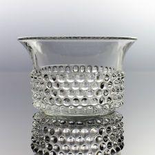 Nuutajarvi - Saara Hopea - 'Näppyläkulho' Bowl - 1950s Vintage Finnish Glass