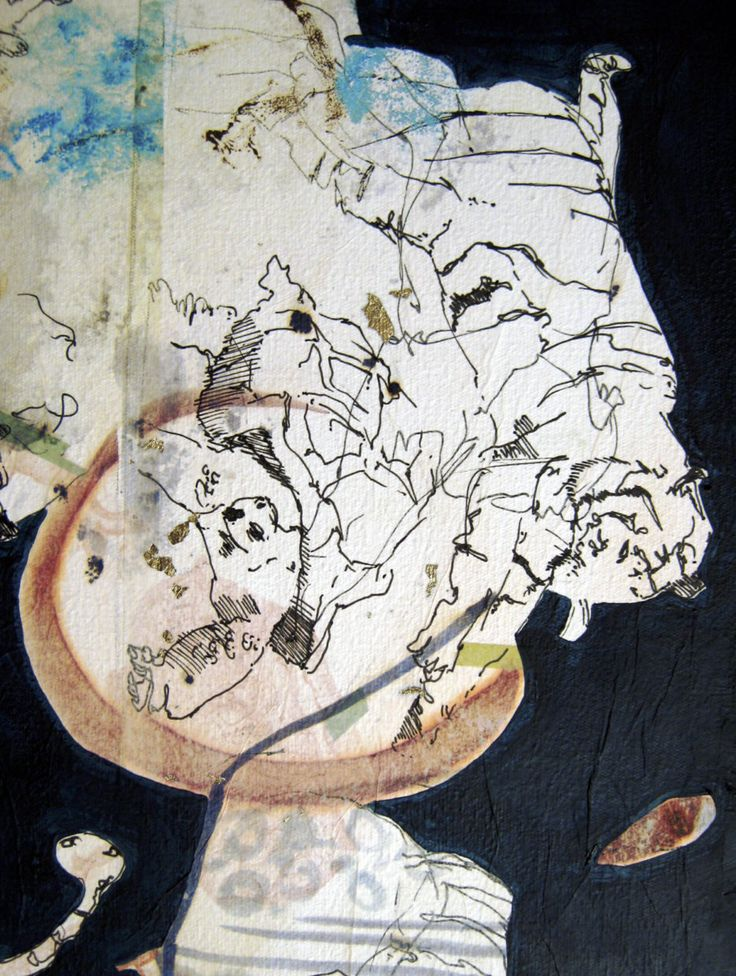Elementary Wisdom: Secret Swim (detail), mixed media on canvas, 1000 x 1000mm…