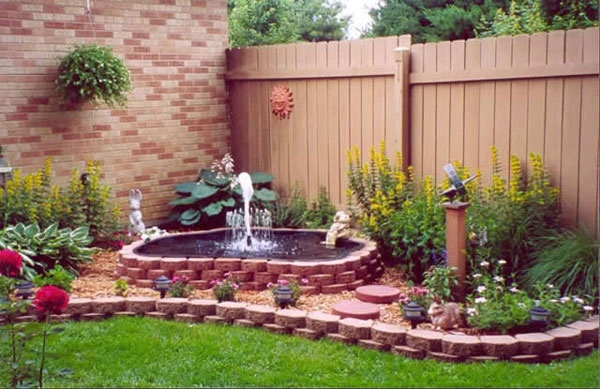 Backyard flower garden.  Jenn - this would fit perfect in that spot in your back yard...