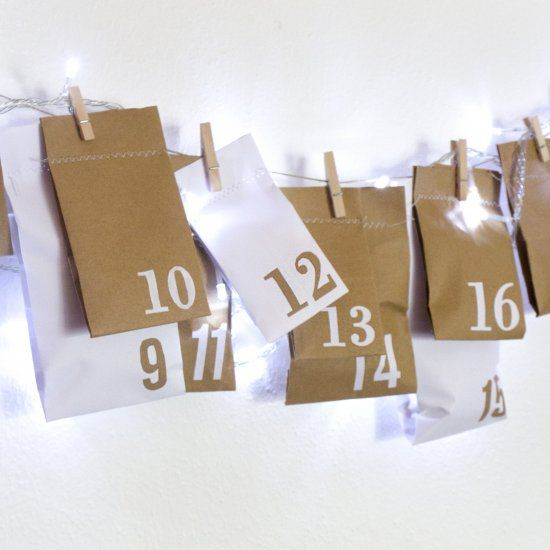 Get into the Christmas spirit with this upcycled advent calendar, made from paper bags