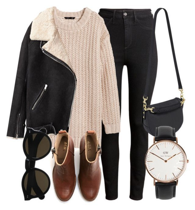"""Untitled #4800"" by laurenmboot ❤ liked on Polyvore featuring H&M, Acne Studios, Beau Coops, Mulberry and Daniel Wellington"